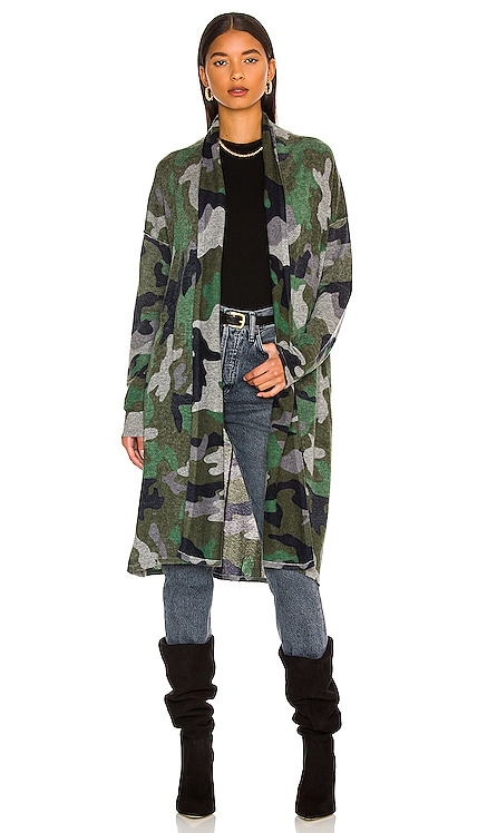 Inked Camo Open Duster Autumn Cashmere $410