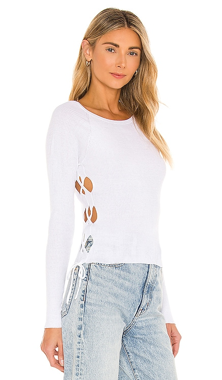 Rib Open Side Cropped Top Autumn Cashmere $189 NEW