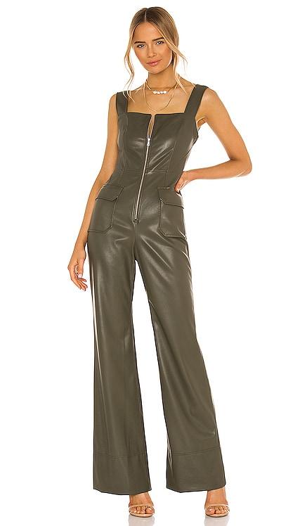 Reverie Vegan Leather Jumpsuit Alexis $539