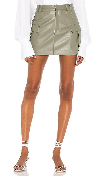 Vegan Leather Cargo Mini Skirt Aya Muse $390