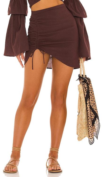 X REVOLVE Mini Ruched Skirt Bananhot $120 BEST SELLER