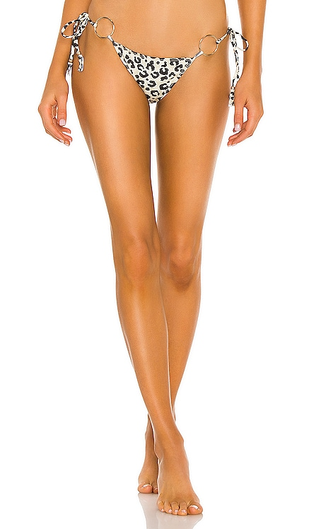 Leopard Tie Bikini Bottom Bananhot $92 NEW