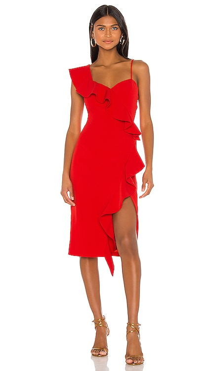 Destiny Frill Dress Bardot $139 NEW ARRIVAL