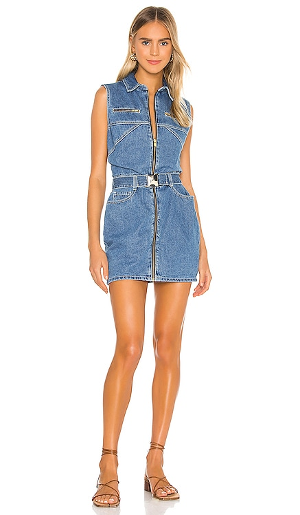 Donatella Denim Dress Bardot $109 NEW ARRIVAL