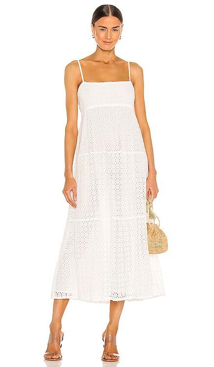 Broderie Flow Dress Bardot $149 NEW