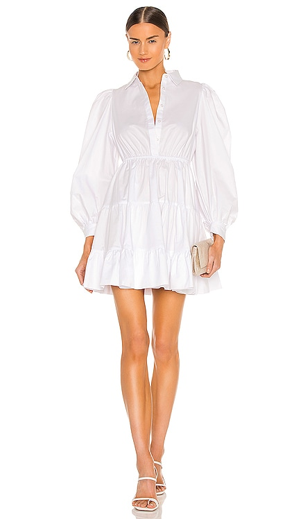 Mini Poplin Dress Bardot $129 NEW