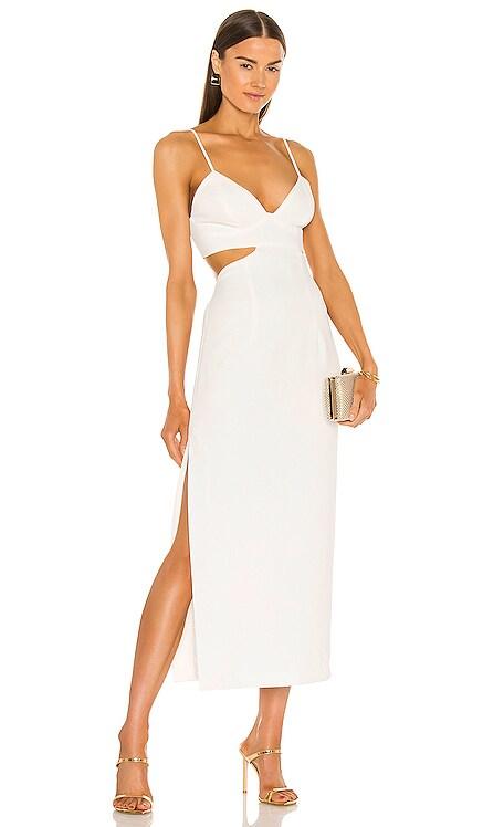 Cut Out Slit Midi Dress Bardot $119 NEW