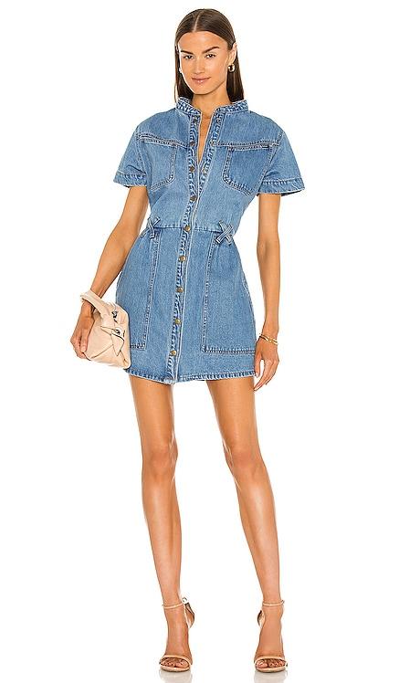 Stacey Denim Dress Bardot $139 NEW