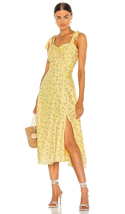 Midi Bow Tie Dress Bardot $129 NEW