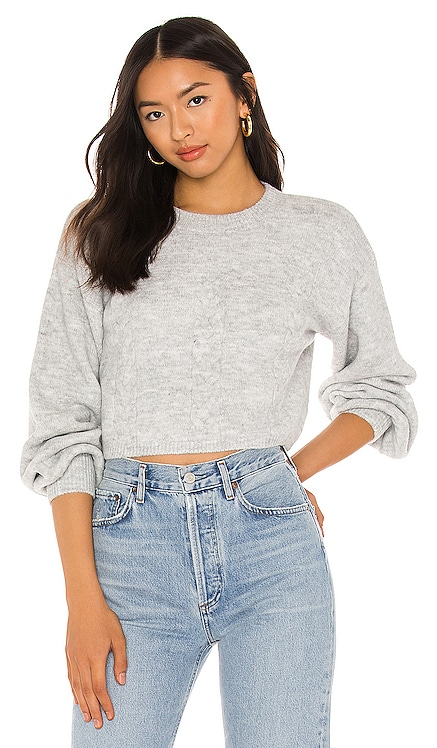 Chloe Cosy Crop Knit Sweater Bardot $79 BEST SELLER