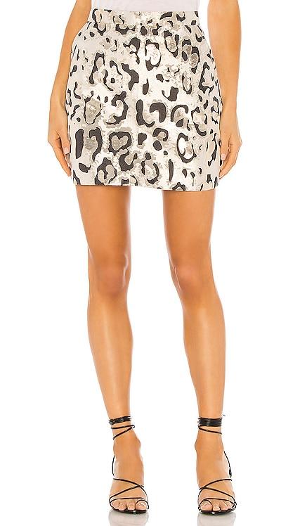 Metallic Leo Mini Skirt Bardot $42