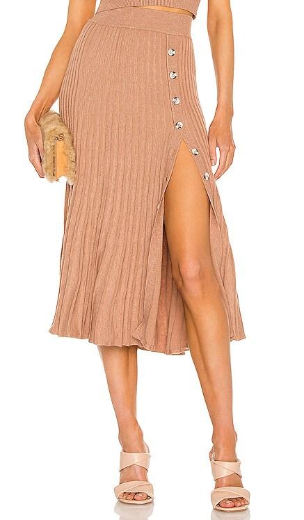 Pleat Button Skirt Bardot $109