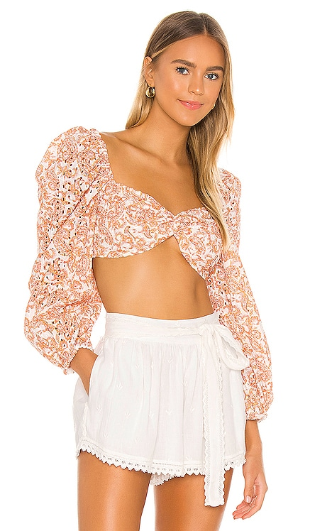 Paisley Embroidered Top Bardot $51