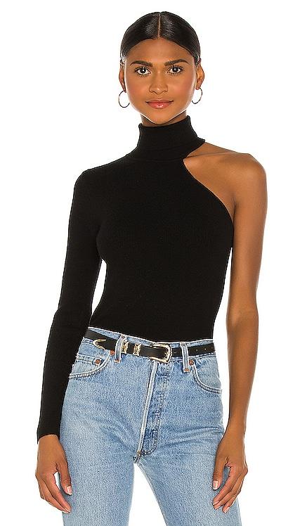 Asymmetric Sleeve Knit Top Bardot $79 NEW