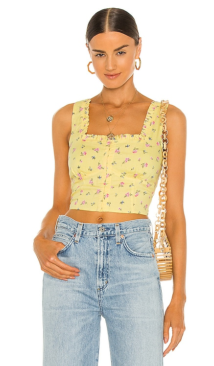Floral Ditsy Bustier Bardot $89 NEW