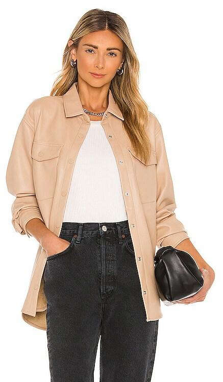 Frida Vegan Leather Shirt Bardot $99