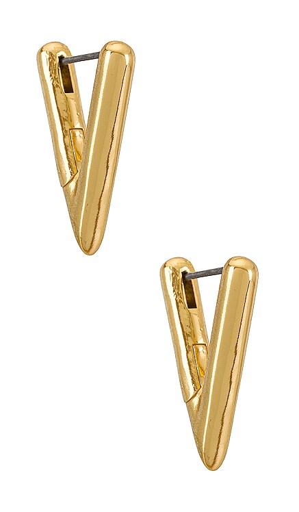 Gold Triangle Huggie BaubleBar $36