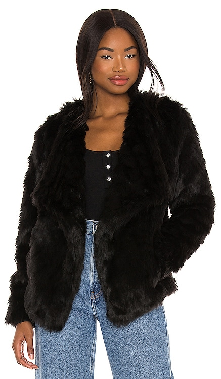 Shag Race Faux Fur Jacket BB Dakota $129 NEW