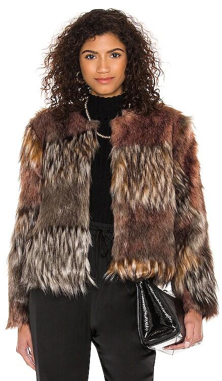 Patch My Drift Faux Fur Jacket BB Dakota $139 NEW