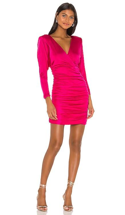 Ruched Long Sleeve Mini Dress BCBGMAXAZRIA $248 NEW ARRIVAL