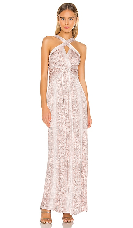 Cross Front Maxi Dress BCBGMAXAZRIA $228