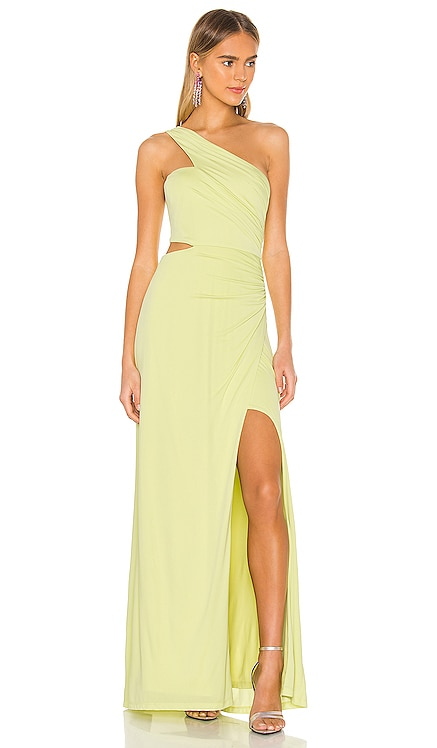 One Shoulder Cut Out Gown BCBGMAXAZRIA $338 NEW ARRIVAL