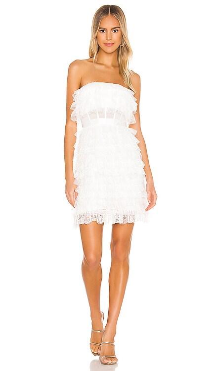Strapless Ruffle Mini Dress BCBGMAXAZRIA $368 NEW ARRIVAL