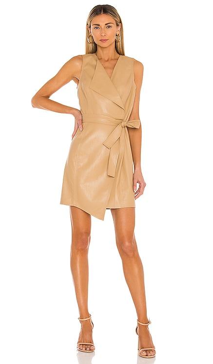 Napa Leather Day Dress BCBGMAXAZRIA $268 BEST SELLER