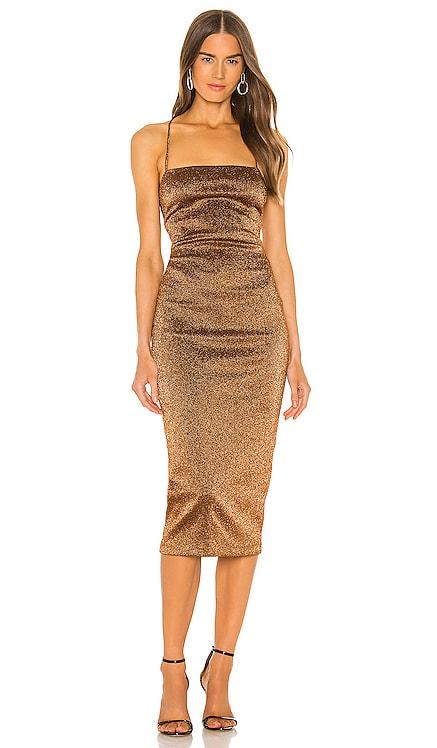 Bronze Baby Midi Dress BEC&BRIDGE $350