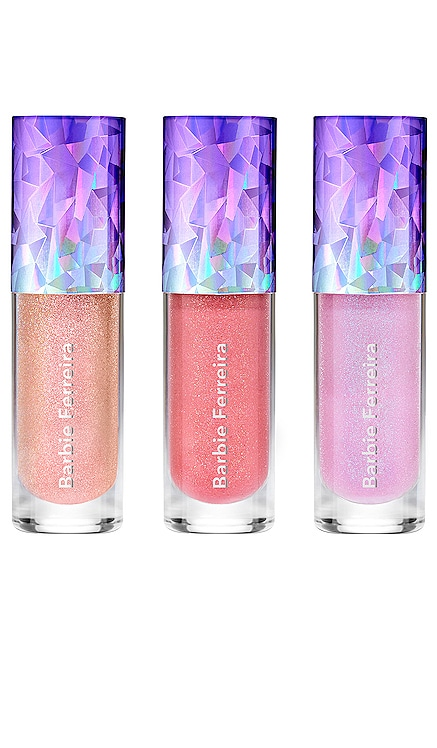 x Barbie Ferreira Prismatica Lip Gloss Set BECCA Cosmetics $25