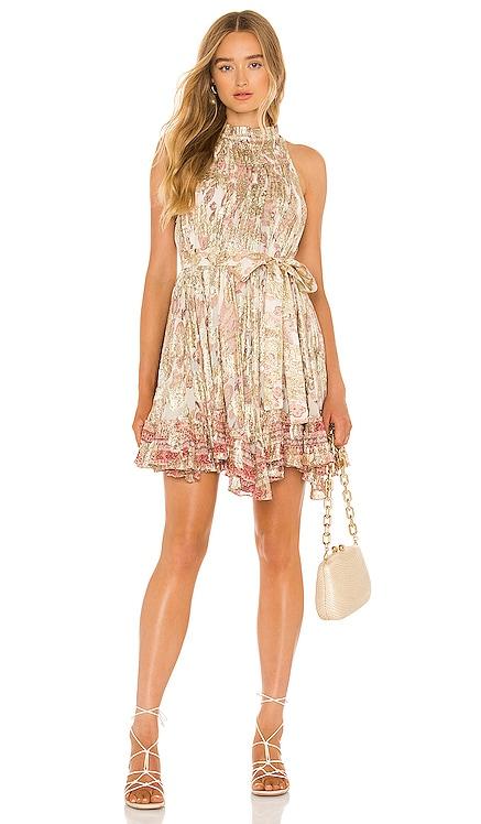 Luana Mini Dress With Tie Belt HEMANT AND NANDITA $345