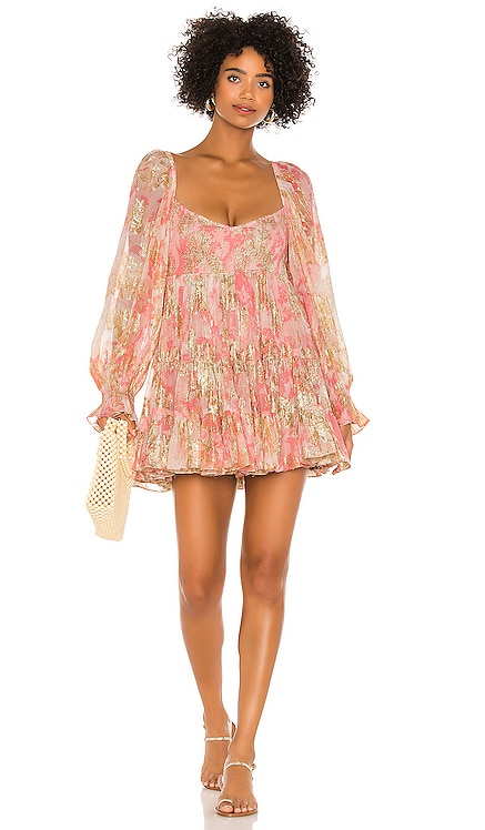 x REVOLVE Bloom Babydoll Dress HEMANT AND NANDITA $331 NEW
