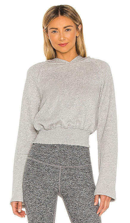 Let's Smock About It Cropped Hoodie Beyond Yoga $99 NEW