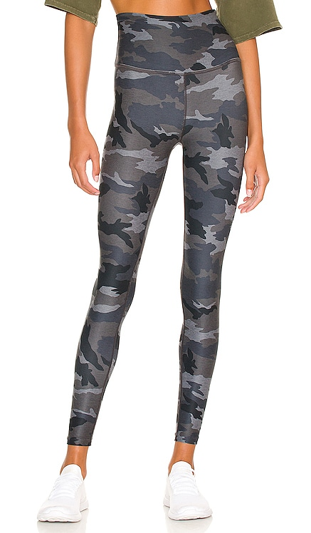 Spacedye Caught in the Midi Printed High Waisted Legging Beyond Yoga $99 NEW