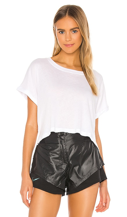 Never Been Boxy Cropped Tee Beyond Yoga $58 NEW