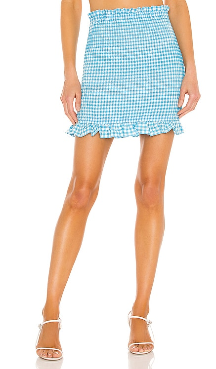 Stretch Seersucker Gingham Skirt BCBGeneration $68
