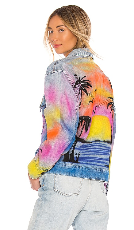 Airbrushed Denim Trucker Jacket BLANKNYC $148