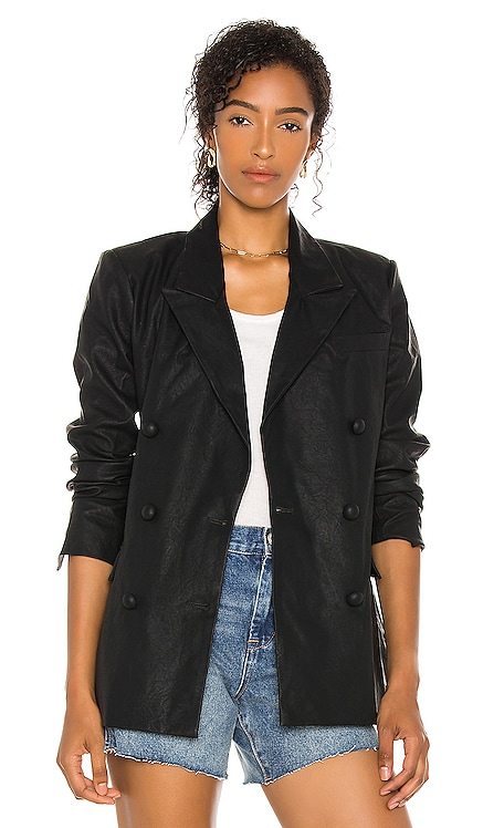 Vegan Leather Blazer BLANKNYC $118