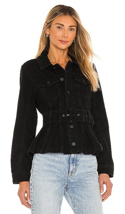 X REVOLVE Belted Denim Jacket BLANKNYC $128 NEW