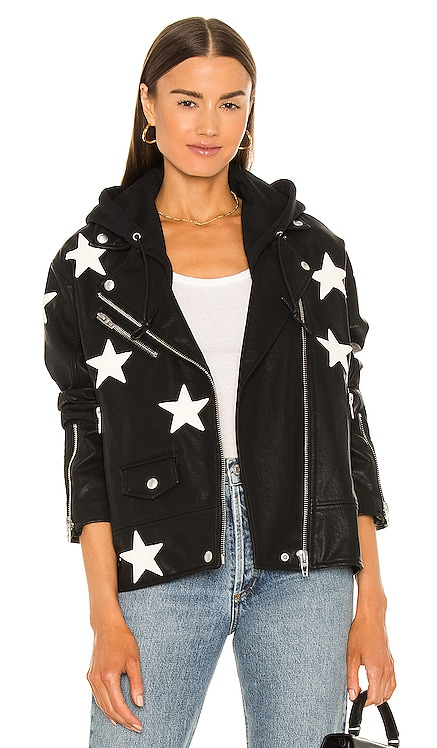 X REVOLVE Twofer Vegan Leather Jacket BLANKNYC $128 NEW