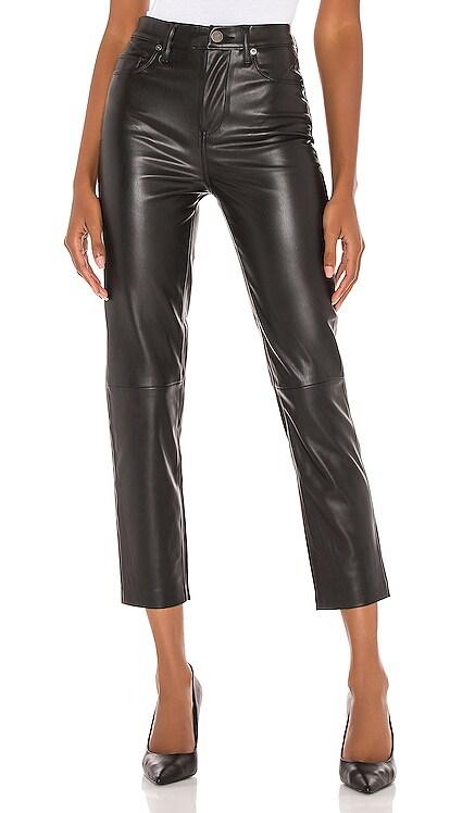 Vegan Leather Straight Leg Pant BLANKNYC $98