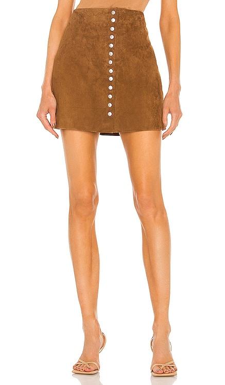 Suede Snap Skirt BLANKNYC $98