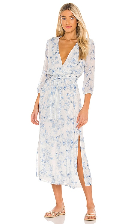 Cross Front Belted Maxi Dress Bella Dahl $196 NEW
