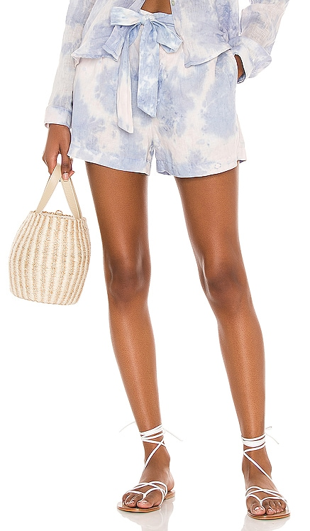 Belted Button Front Shorts Bella Dahl $123 NEW