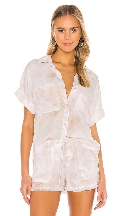 Rolled Short Sleeve Button Down Bella Dahl $167 NEW