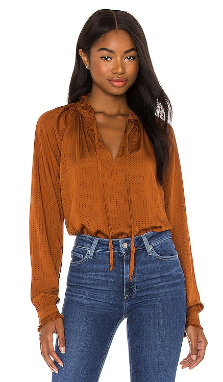 Ruffle Raglan Pullover Top Bella Dahl $145 BEST SELLER