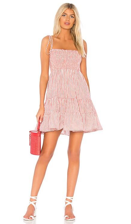 X REVOLVE Summer Breeze Mini Dress Blue Life $96