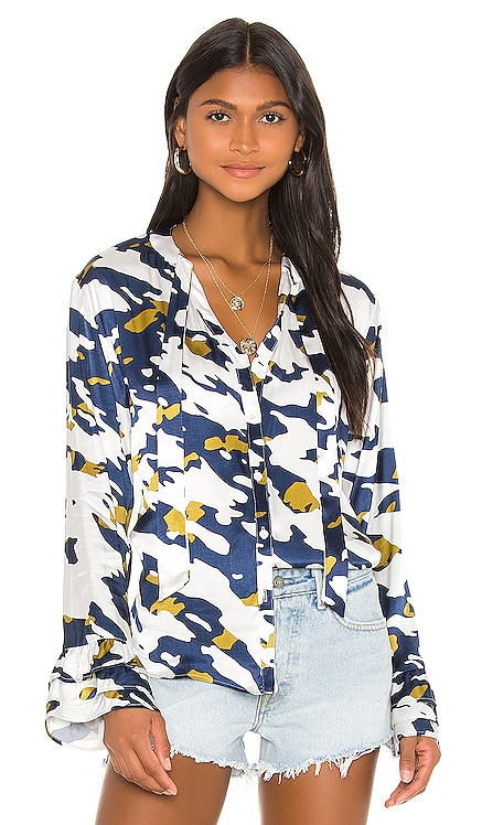Katy Scarf Blouse Blue Life $145 NEW ARRIVAL