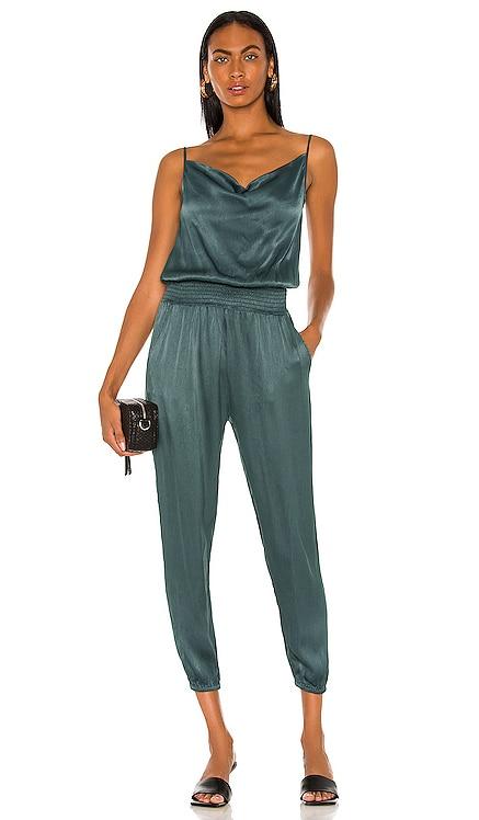 BLACK Sleek Textured Jumpsuit Bobi $141 BEST SELLER