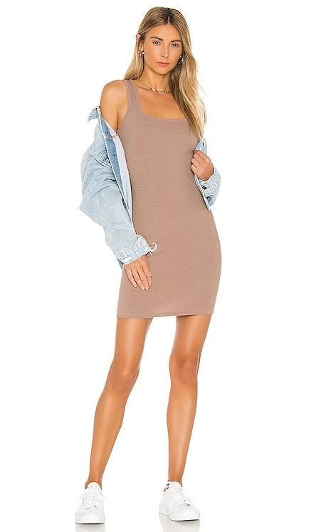 Modal Spandex Rib Bodycon Mini Dress Bobi $48